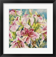 Framed Pink Lilies