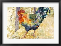 Framed Colorful Rooster