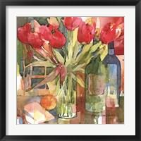 Framed Bottles & Blooms