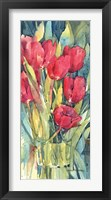 Framed Red Hot Tulips