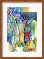 Framed Table Scape With Irises