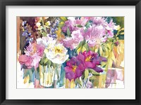 Framed Plethora Of Peonies
