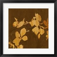 Framed Falling Leaves I