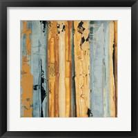 Framed Ochre, Blue Overlay I