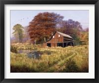 Framed Red Barn