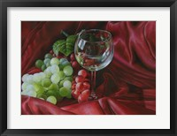 Framed Red Satin and Grapes