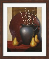 Framed Still Life with Black Vase