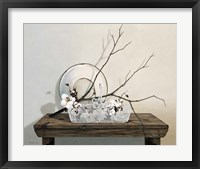 Framed Wire Basket With Cotton