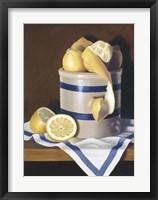 Framed Blue Stripes & Lemons