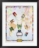 Framed Visualize World Peas