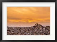 Framed Endless Rock Sunset