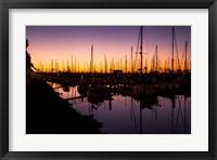 Marina Twilight Framed Print