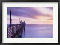 Framed Dusk at the Oceanside Pier