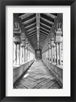 Framed USC Hall B&W