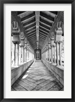 Framed USC Hall B&W