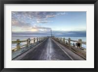 Carpinteria Pier View I Framed Print
