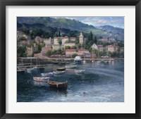 Framed Tranquil Harbor