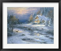 Framed Winter Cottage