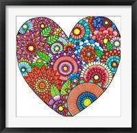 Framed Floral Heart