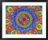 Framed Mardi Gras Mandala