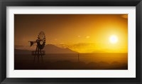 Framed Panorama Sunset No 2