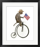 Framed Monkeys Riding Bikes #3