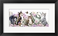 Framed Flower Cats