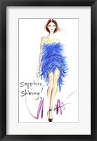 Framed Sapphire Shimmy