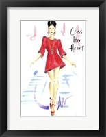 Framed Cross Her Heart