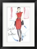 Framed Scarlet & Leather