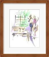 Framed Wine And Dine