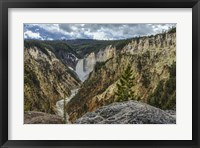 Framed Lower Falls YNP Grand Canyon