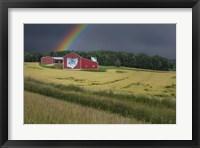 Framed Ohio Farm Rainbow