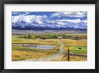 Framed Montana Farm (Watercolor)