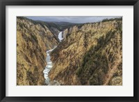 Framed Yellowstone Grand Canyon - Lower Falls
