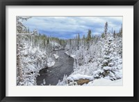 Framed Yellowstone Winter In Fall