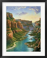 Framed Colorado River - Grand Canyon