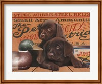 Framed Hunting Puppies