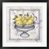 Framed Pears In A Silver Bowl