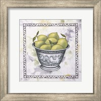 Framed Limes In A Silver Bowl