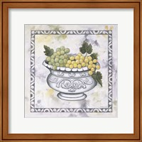 Framed Green Grapes In A Silver Bowl