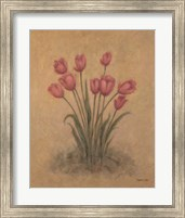 Framed Bunch of Red Tulips
