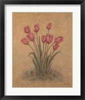 Bunch of Red Tulips Framed Print