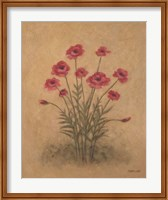 Framed Bunch of Red Poppies