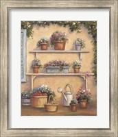 Framed Pot OF Flowers