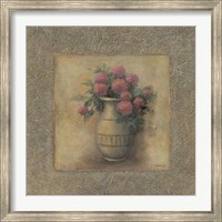 Framed Red Flowers In Vase