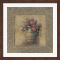 Framed Red Flowers In Vase