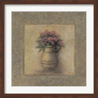 Framed Red Flowers In Vase 2