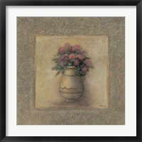 Framed Red Flowers In Vase 2