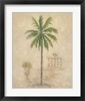 Palm With Architecture 4 Framed Print